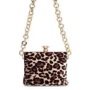 Topshop Margot Leopard Shoulder Bag